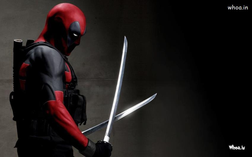 Deadpool 2016 Hollywood Movies HD Wallpaper with Dark Background 850x531