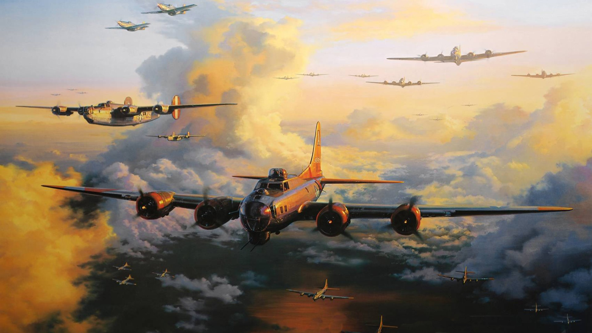 Boeing B 17 Flying Fortress HD Wallpaper Background Image 1920x1080