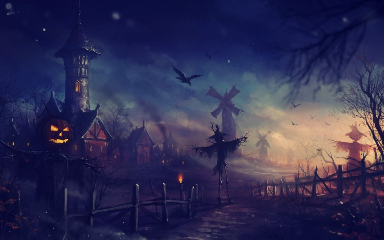 via one halloween evening Computer Wallpapers Desktop Backgrounds 1280x800