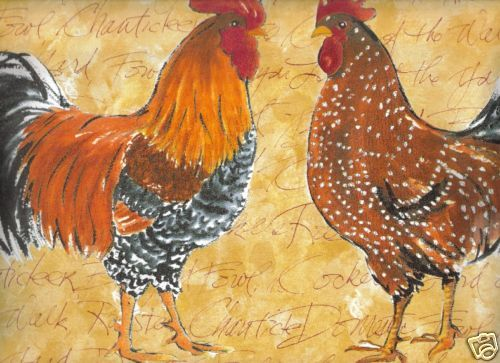 Roosters Country French Style Wallpaper Border OR155B eBay 500x363