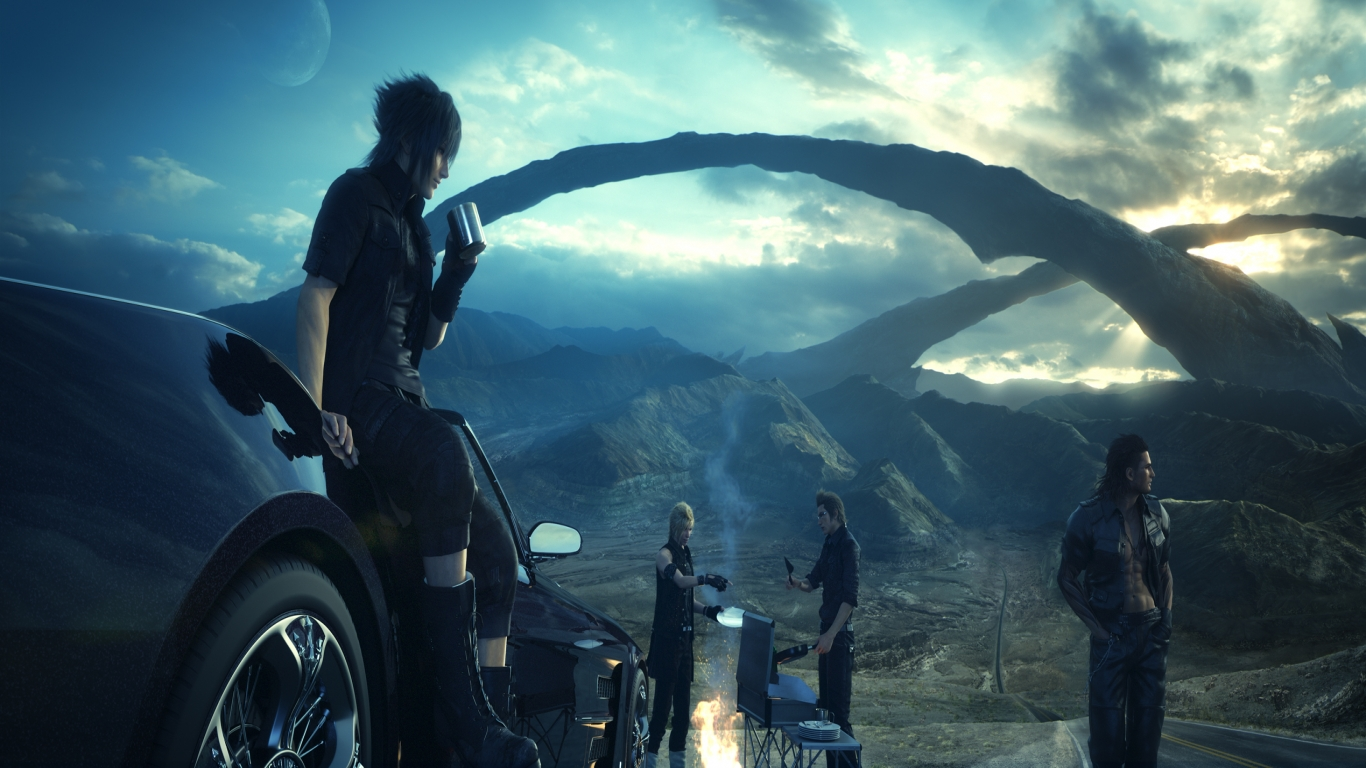Download Final Fantasy XV Video Game Movie 2015 HD Wallpaper Search 1366x768