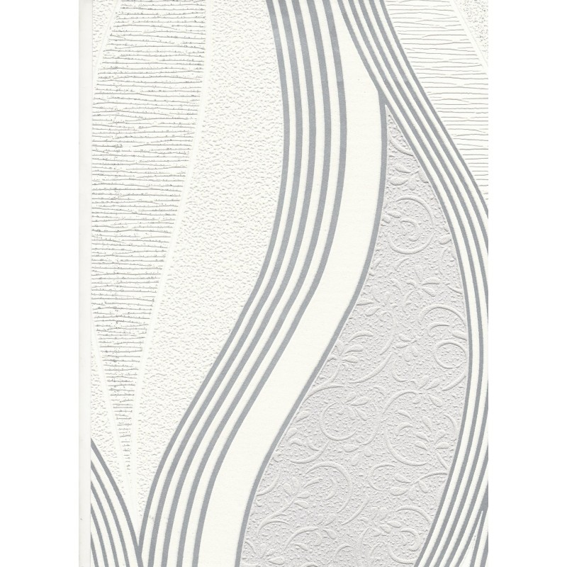 Home Metallic Waves Soft Grey White Blown Vinyl Wallpaper by 800x800