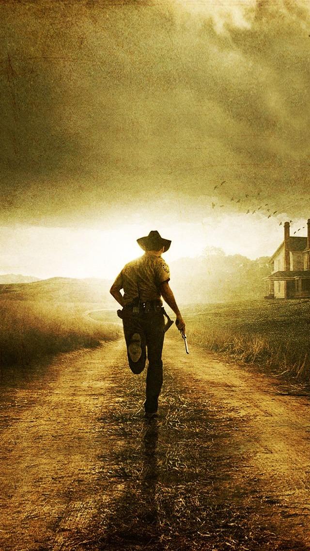 The Walking Dead Carl iPhone 5 Wallpaper 640x1136 640x1136