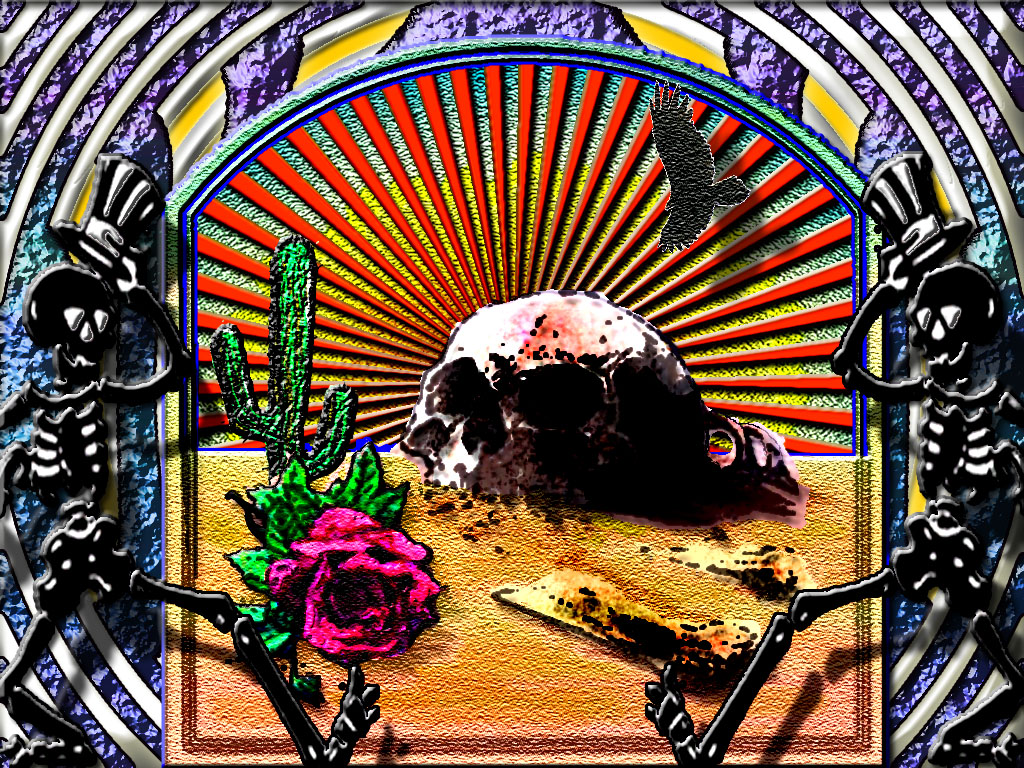 Of Grateful Dead Wallpapers Skeleton And Roses Wallpaper 1024x768