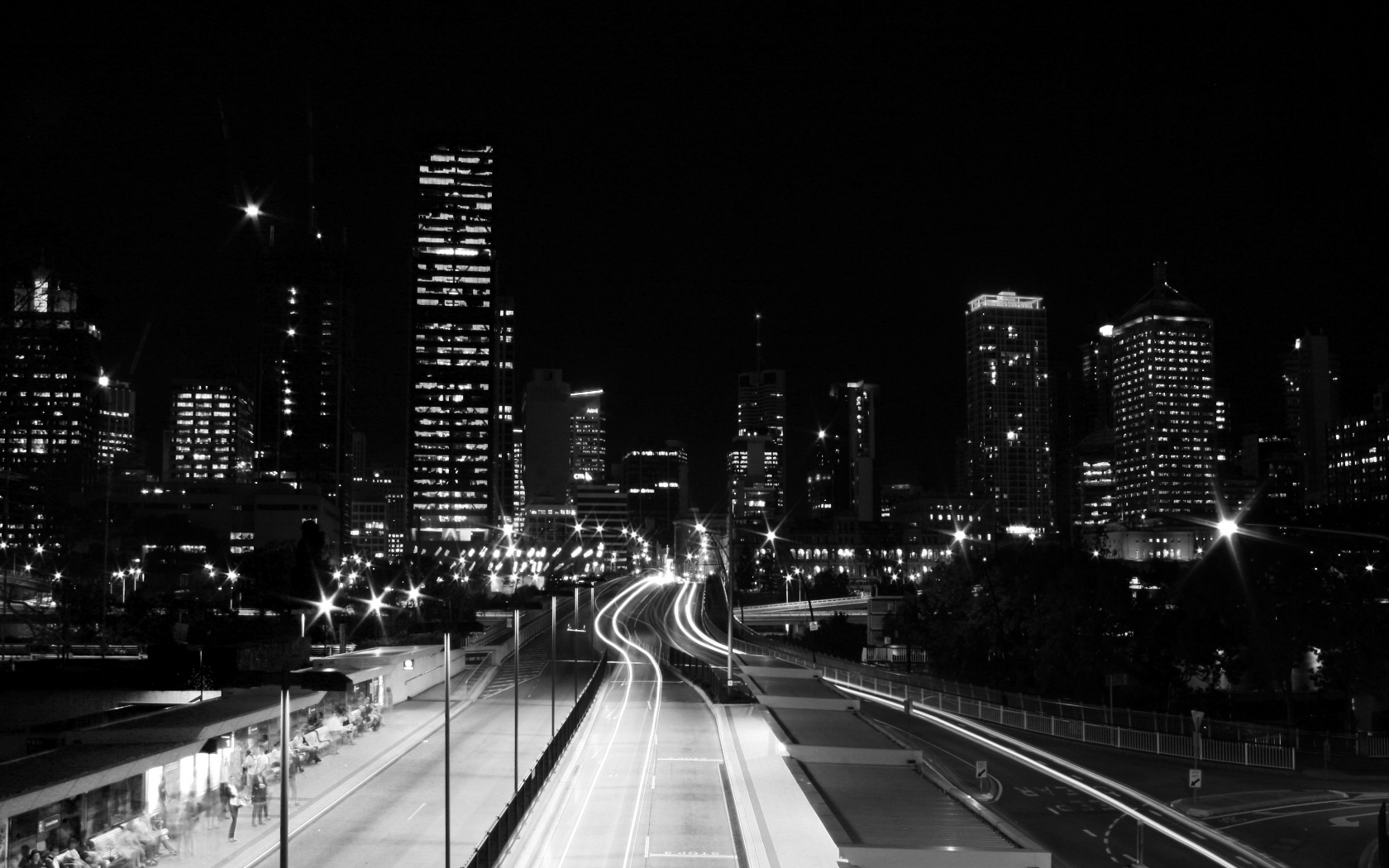 Black And White City Photography Wallpaper Wallpaper with 1680x1050 1680x1050
