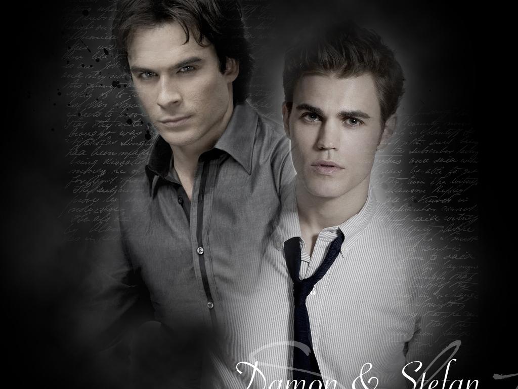 DamonStefan   Damon and Stefan Salvatore Wallpaper 20832325 1024x768
