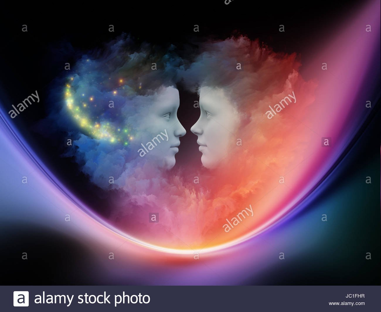 Dreaming Heart series Artistic background made of Human profiles 1300x1065