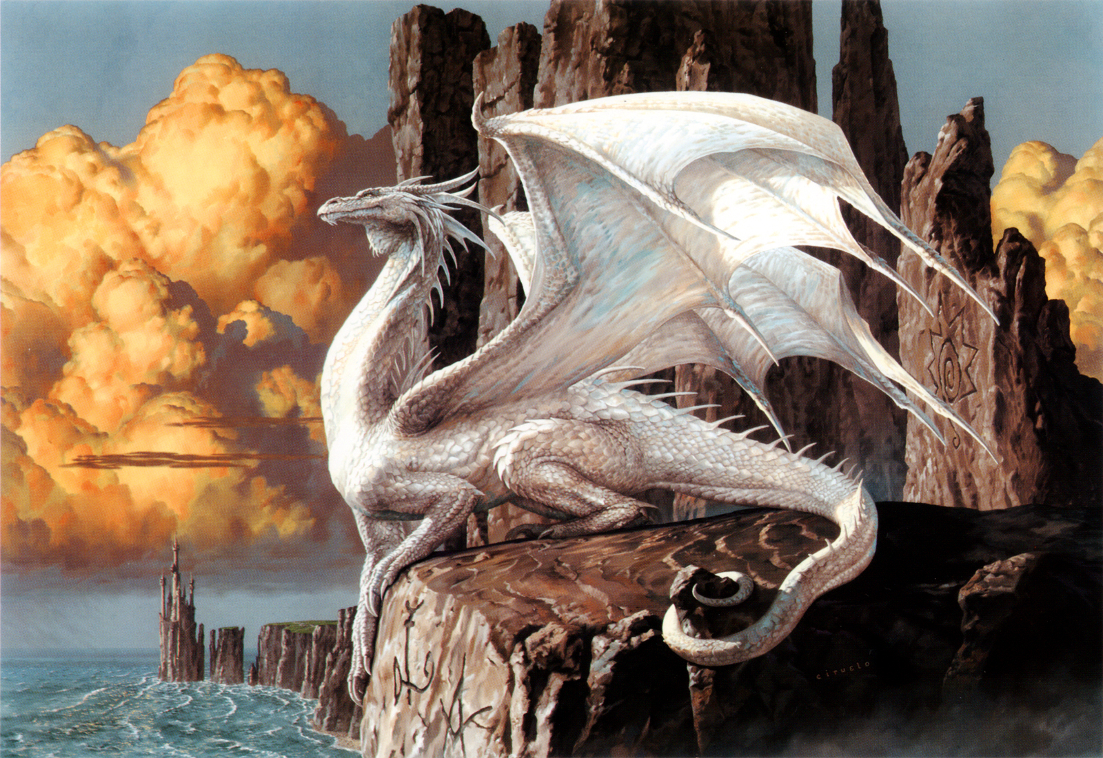 Free Download Magic The Gathering Art White Dragon Wallpaper Magic
