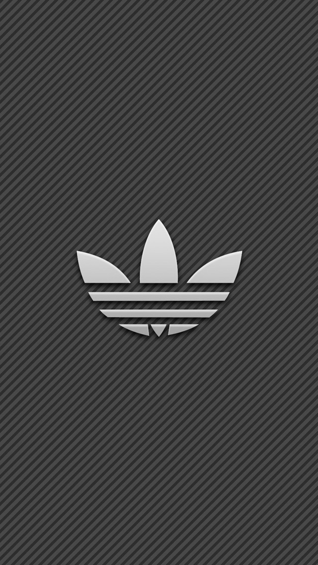 Adidas Logo With Stripe Background Wallpaper   iPhone Wallpapers 640x1136