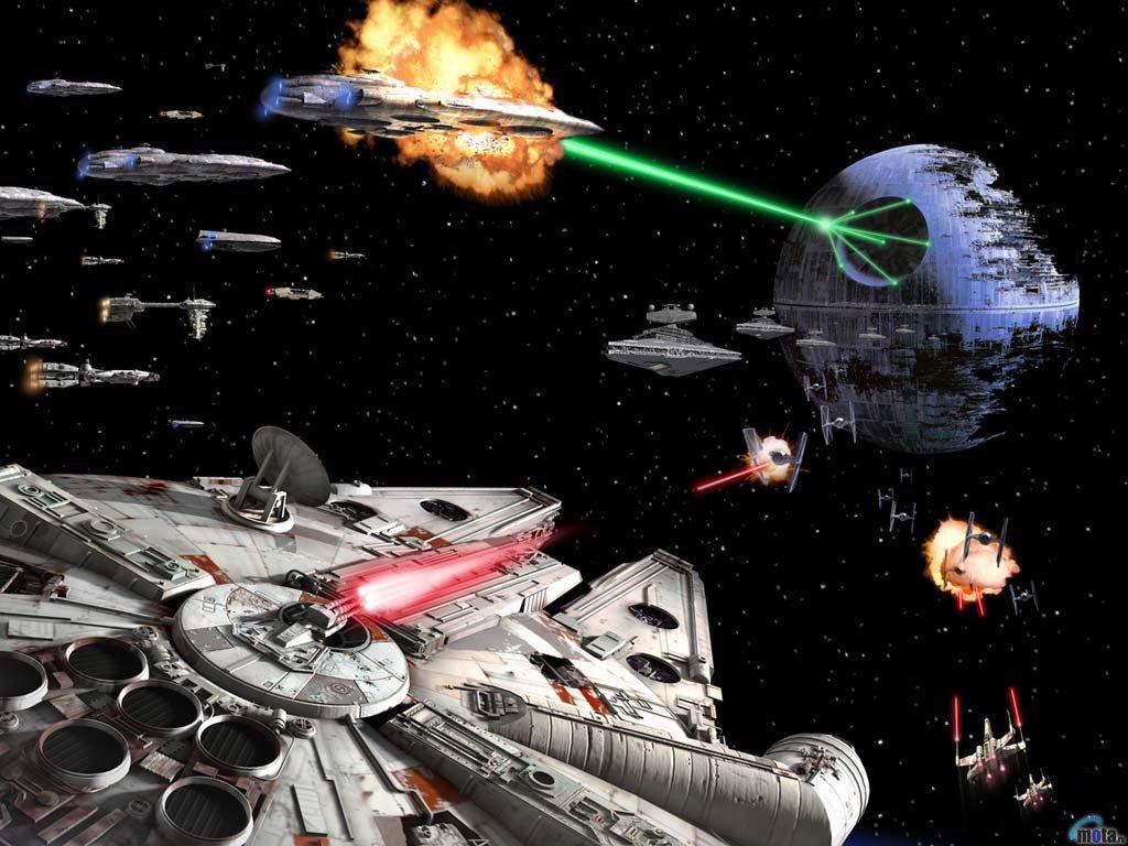 de Pantalla Gratis   Fondo de Pantalla de Star Wars Batalla de Endor 1024x768