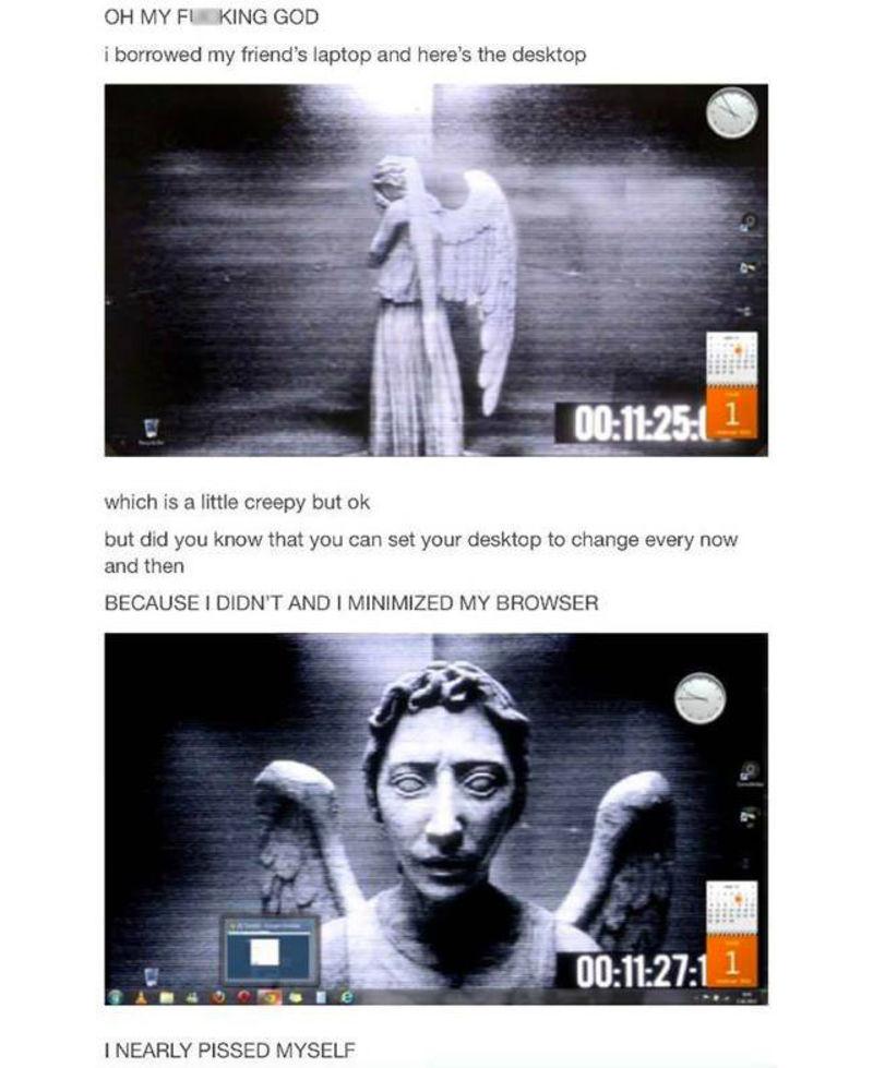 Weeping Angel Wallpaper Moving Screen   52DazheW Gallery 800x979