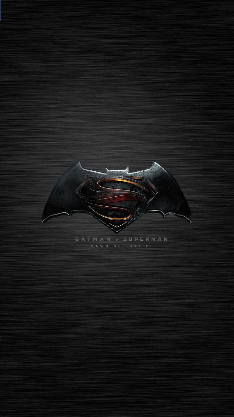 Batman v Superman Logo iPhone 6 Wallpaper 750x1334