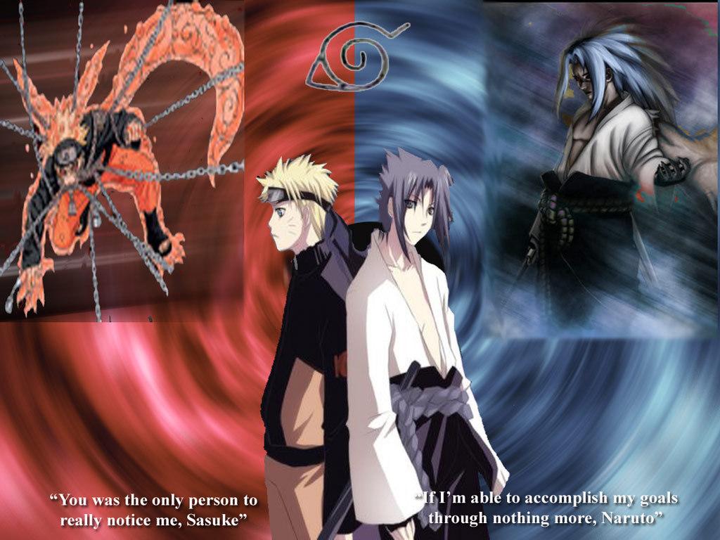 WallpapersKu Naruto vs Sasuke Wallpapers 1024x768