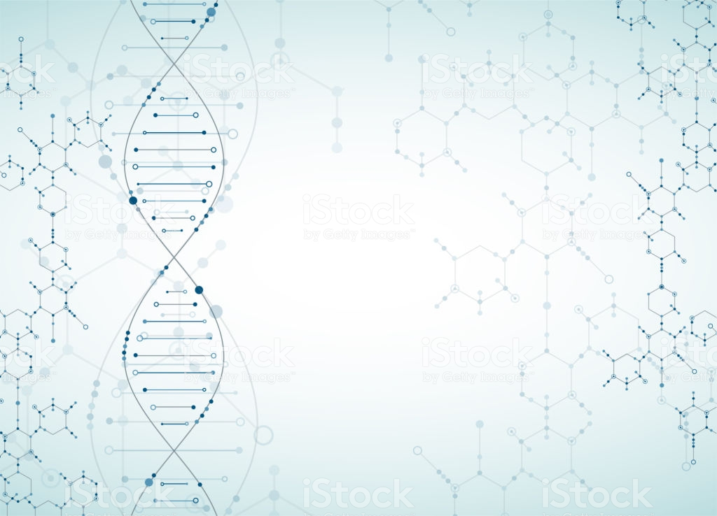 Science Template Dna Molecules Background Stock Illustration 1024x738
