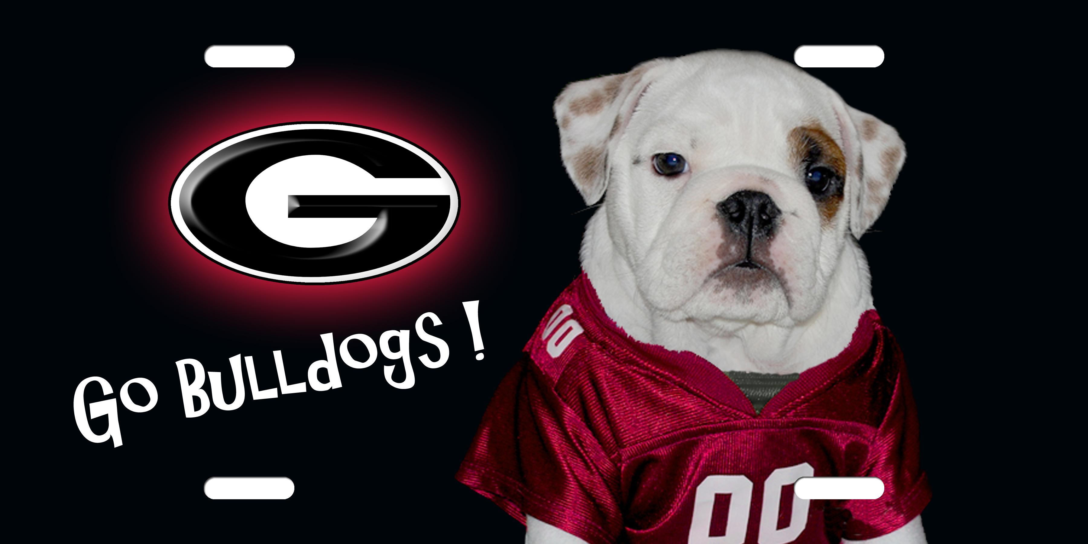 georgia bulldog License Plate georgia bulldog License Tag 3600x1800