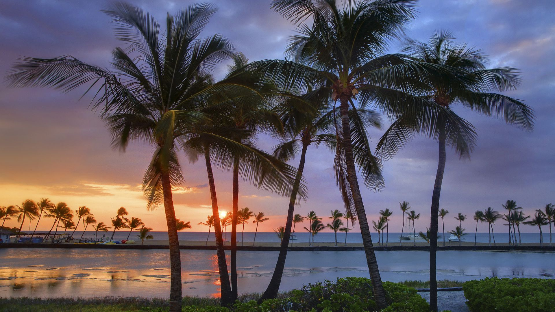Hawaiian sunset wallpaper   315108 1920x1080