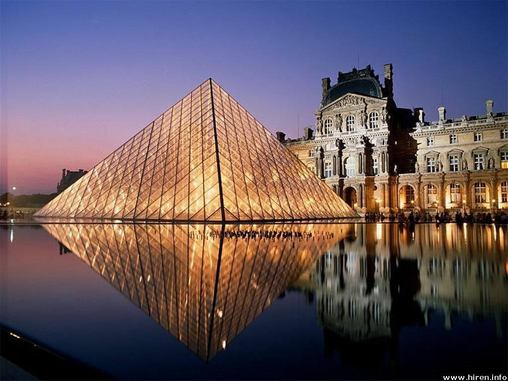 tlchargez le wallpaper louvre pyramide paris france disponible 1024x768