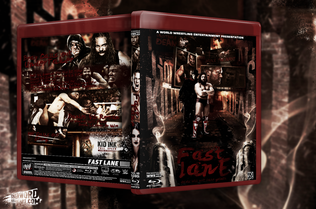 WWE Fast Lane Blu Ray Cover by JoKeRWord 1024x678