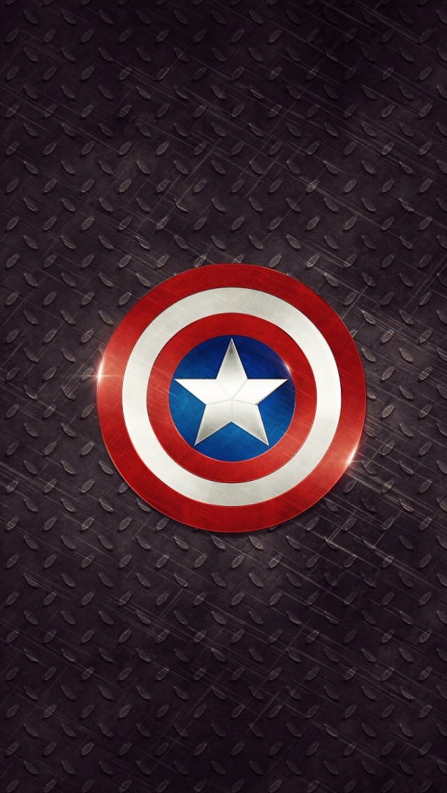 Captain America Logo iPhone 5s Wallpaper Download iPhone Wallpapers 640x1136