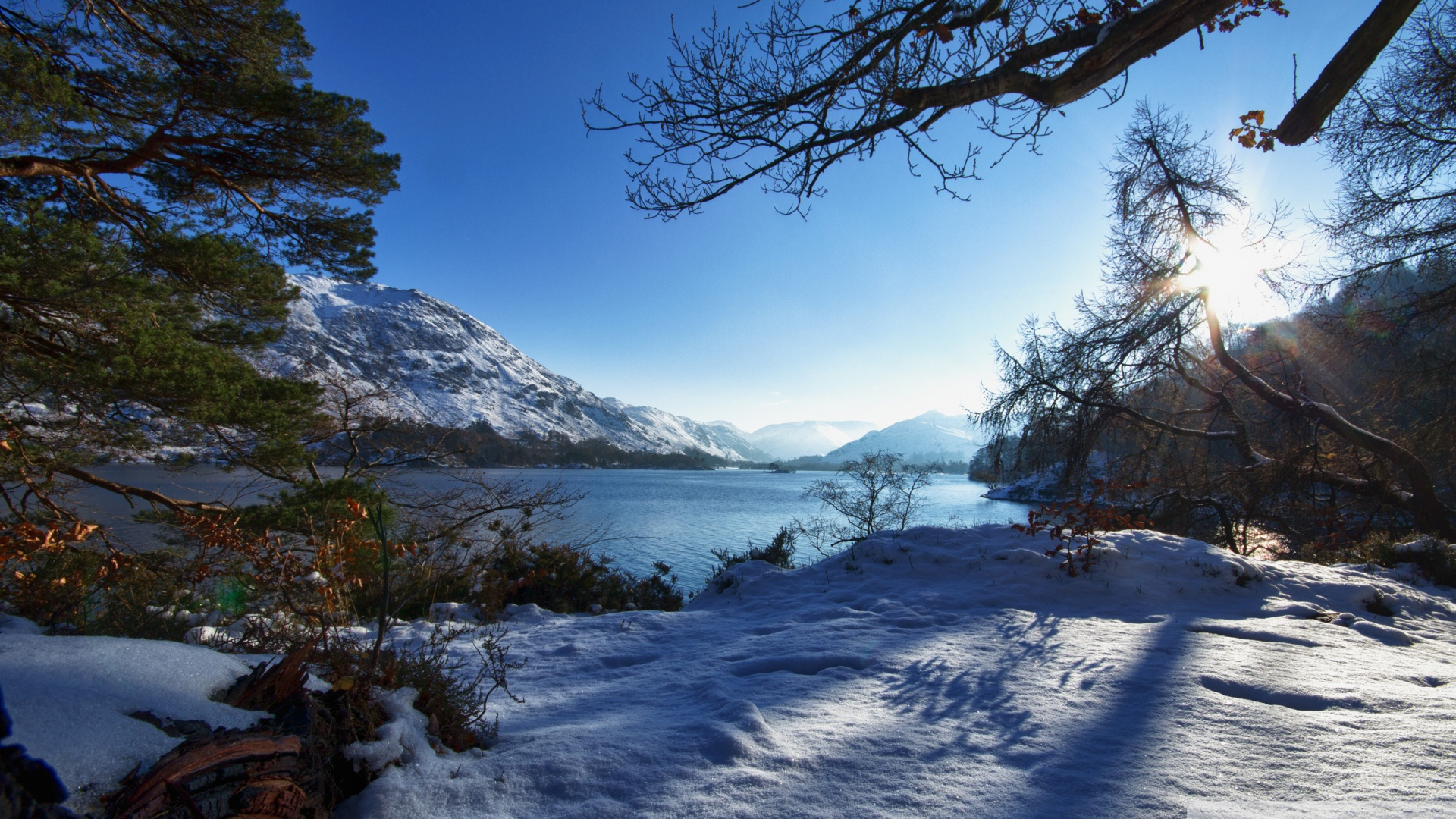winter wallpaper sunshine mountain images 1920x1080 1920x1080
