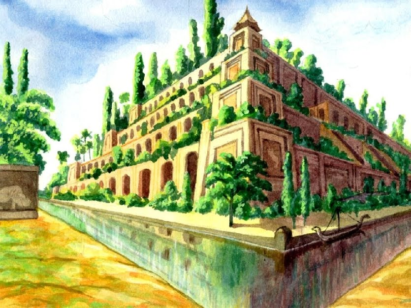 Hanging gardens of babylon wallpaper wallpapersafari for When was the hanging gardens of babylon destroyed