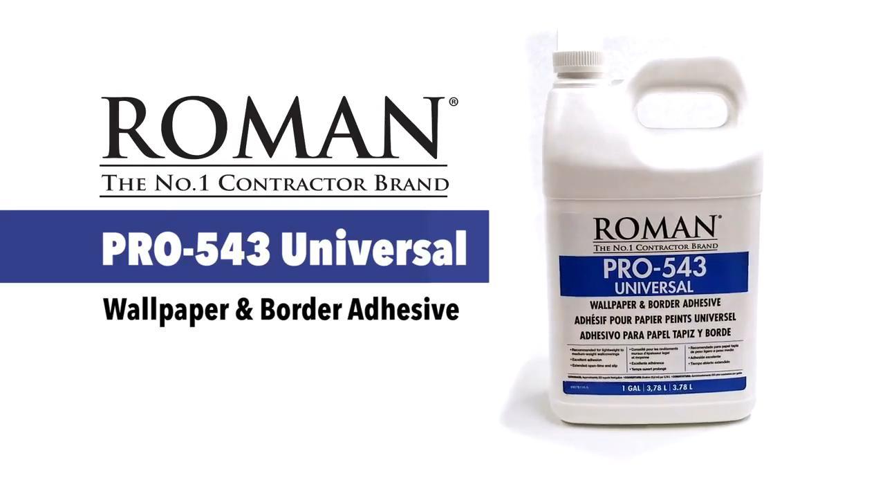 Roman PRO 543 1 gal F Style Universal Wallpaper Adhesive 209864 1280x720