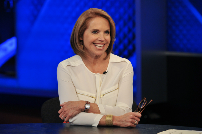Katie Couric visits The OReilly Factor at FOX Studios on May 13 674x448