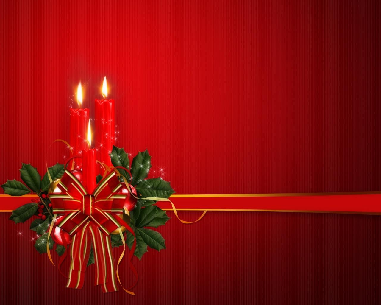 1280x1024 Christmas candles desktop PC and Mac wallpaper 1280x1024