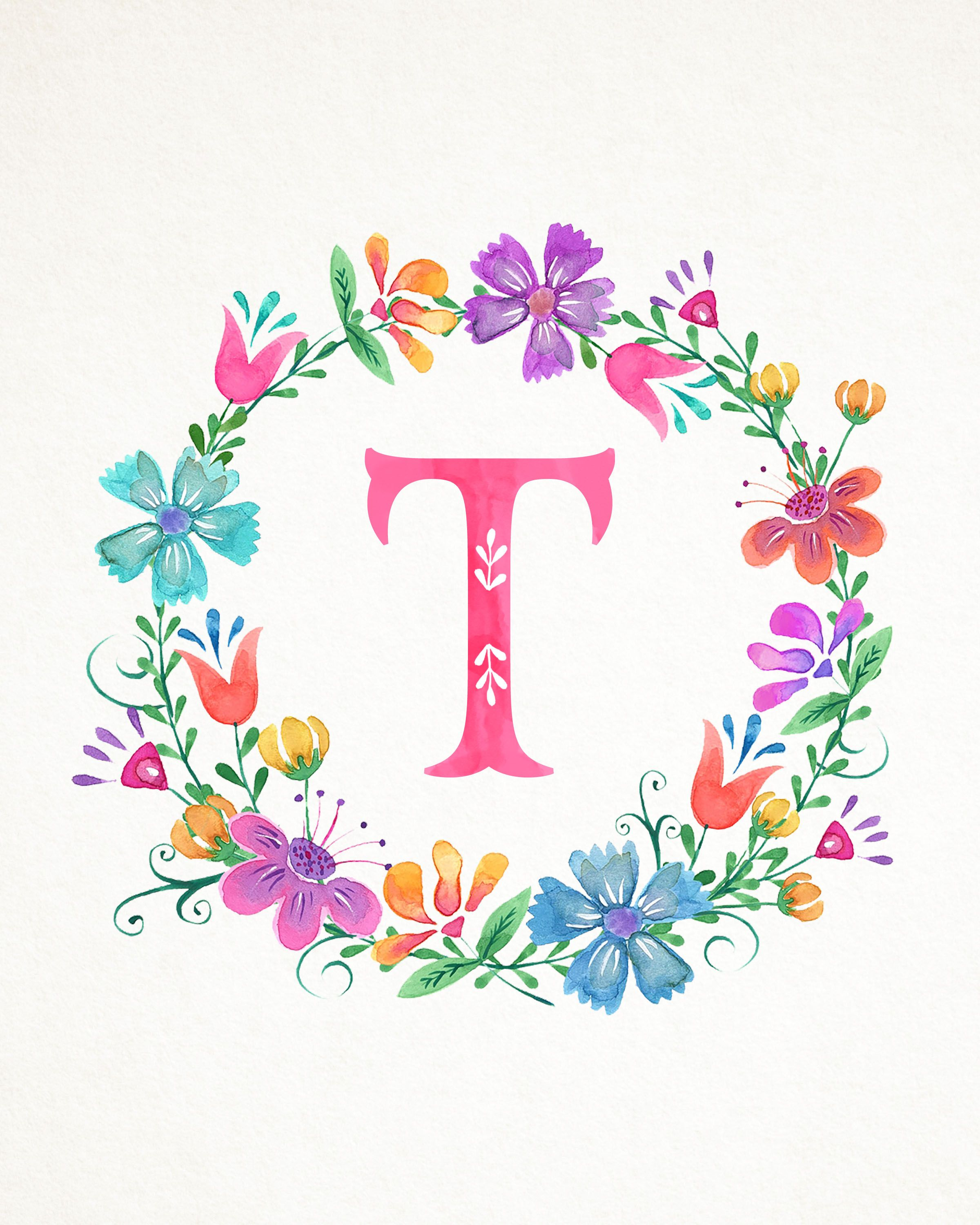 Pin by Fadila on Flores VII Floral letters Monogram wallpaper 2400x3000