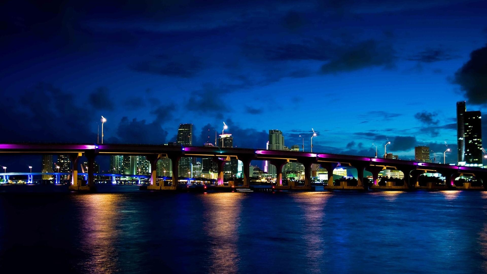Bridge night city HD Desktop Wallpaper HD Desktop Wallpaper 1920x1080