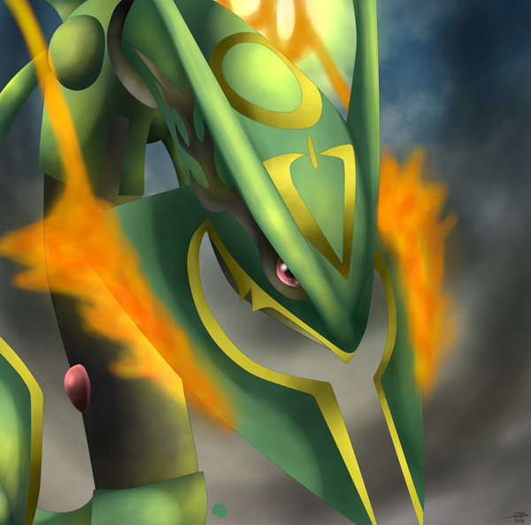 how to draw mega rayquaza y