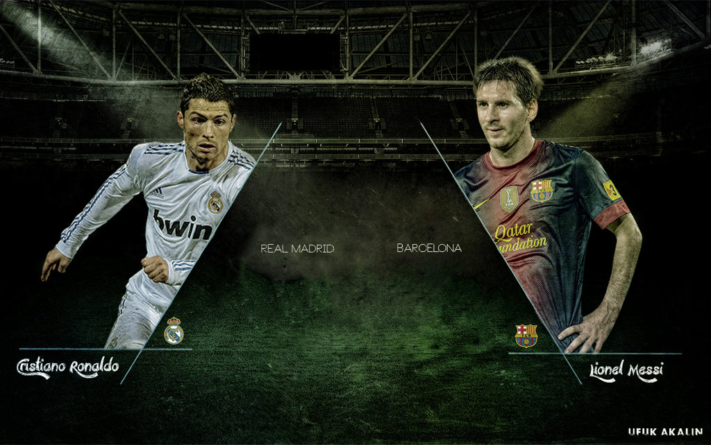 Cristiano Ronaldo vs Lionel Messi   Wallpaper by ufuuk7 1024x642