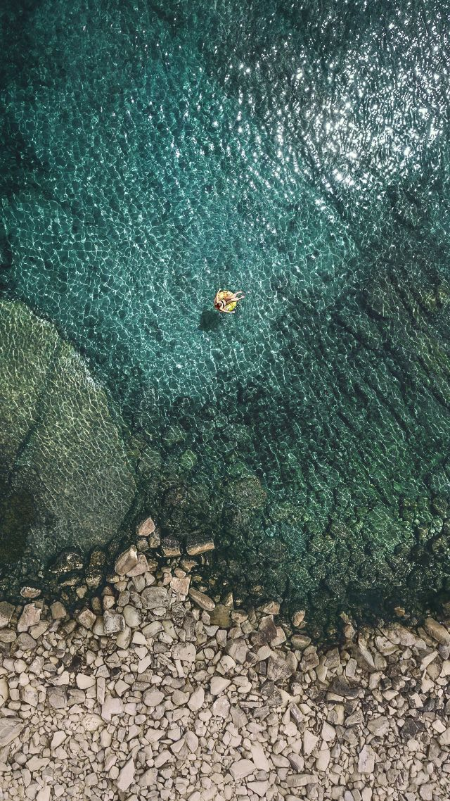 Wallpaper iOS 11 4k sea OS 13659 640x1138