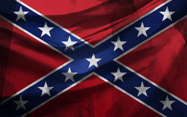 Rebel Flag with Texture by metfuel 600x375
