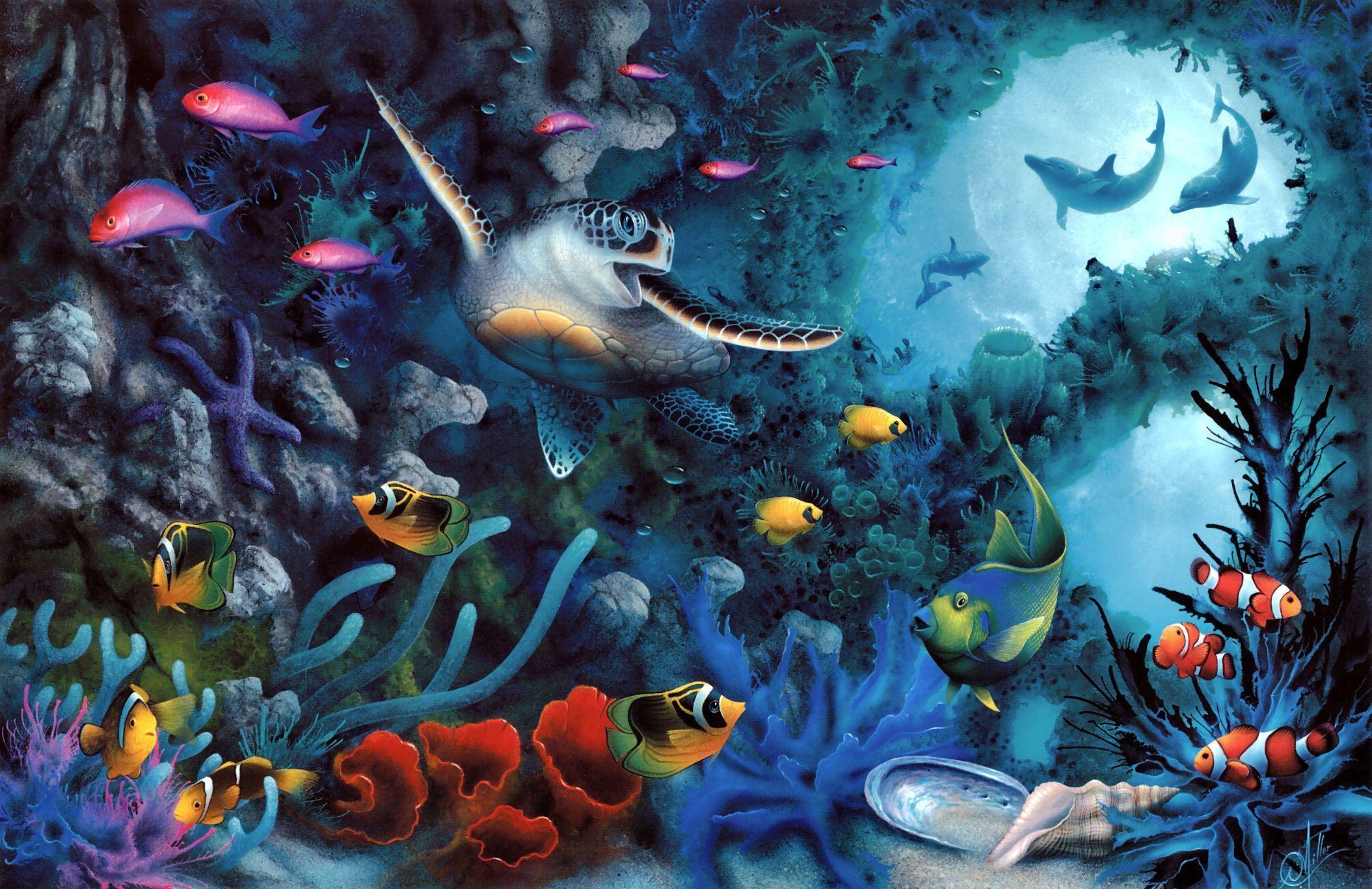 sea mural Computer Wallpapers Desktop Backgrounds 2109x1367 ID 2109x1367