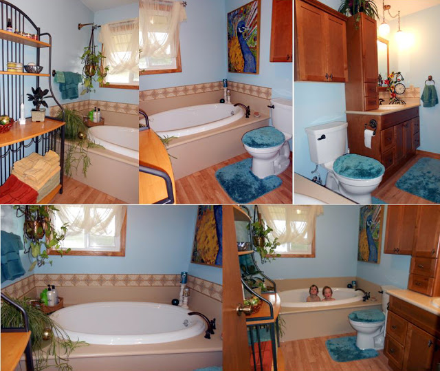 Our old bathroom above hadnt been updated since we built the house 640x539