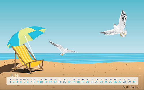 June Wallpaper   Beach Theme 500x313