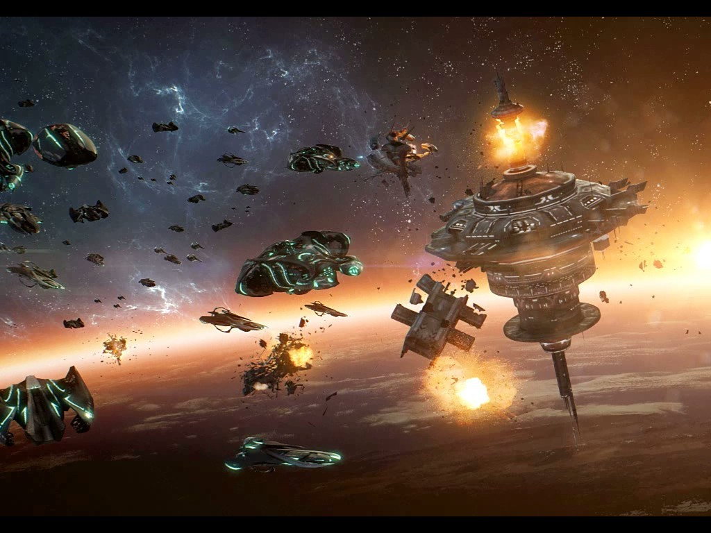 Epic Space Battle Wallpaper Images Pictures   Becuo 1024x768