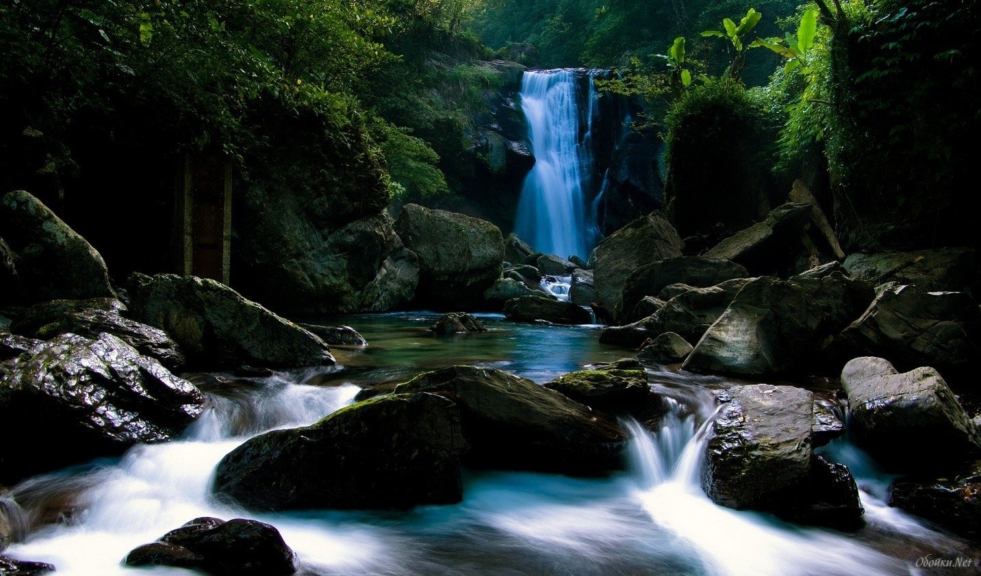 Home Nature The most beautiful waterfall HD Desktop Wallpaper 1433x842