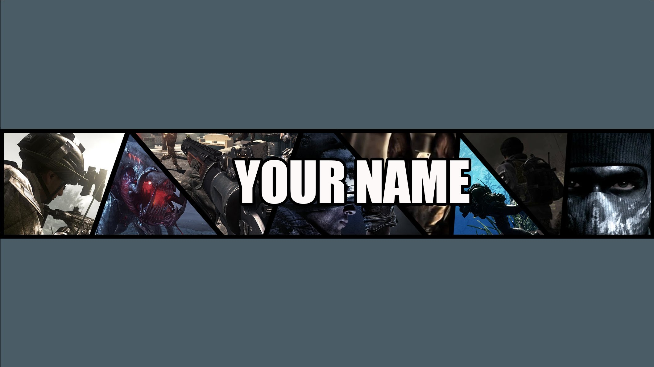 FREE Call of Duty Ghosts YouTube Banner Template BY ME 2120x1192