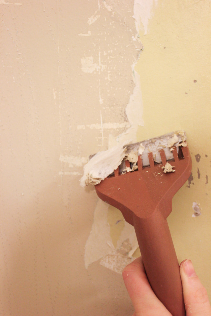to Remove Wallpaper Without Chemicals Even if its Been Painted Over 683x1024