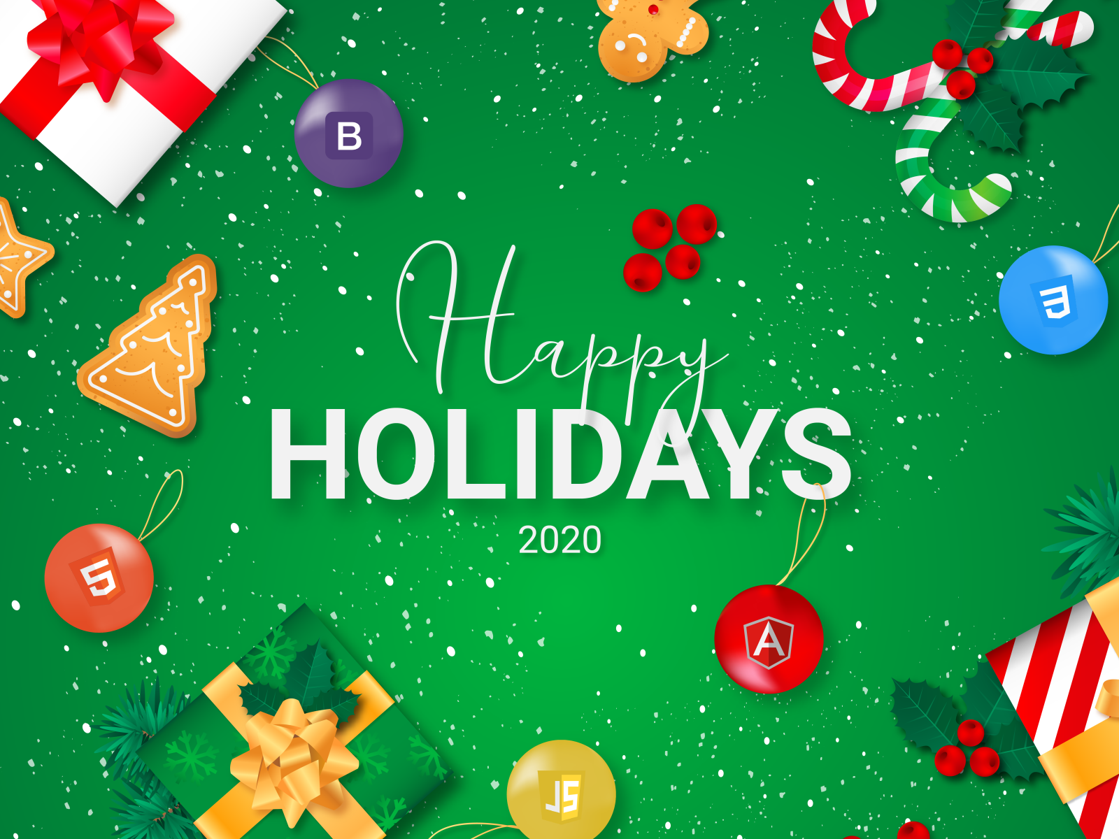 Happy Holidays 2020 by Martin Stefanovic on Dribbble 1600x1200