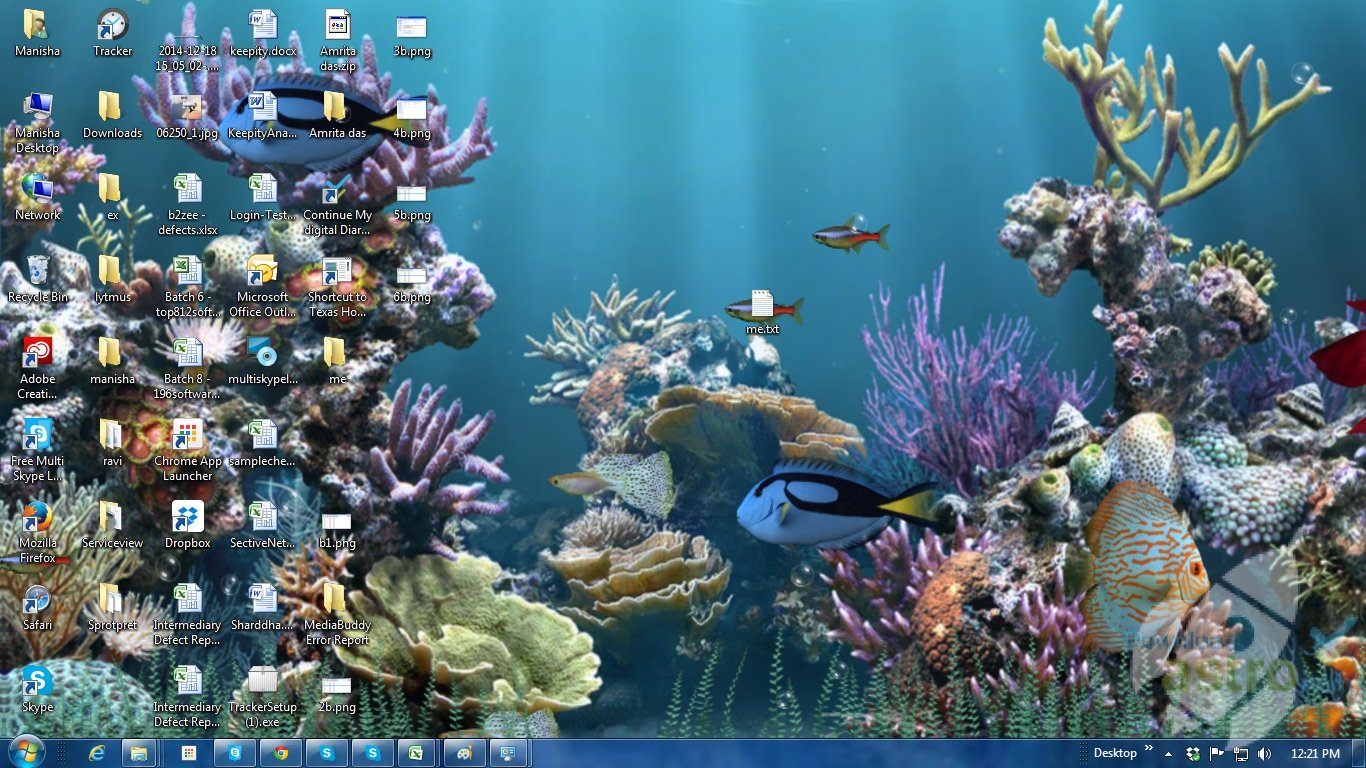Free Animated Desktop Wallpaper: 3D Animated Aquarium Wallpaper