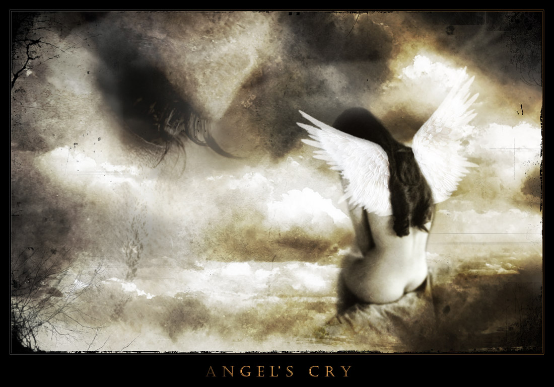 crying angel wallpaper