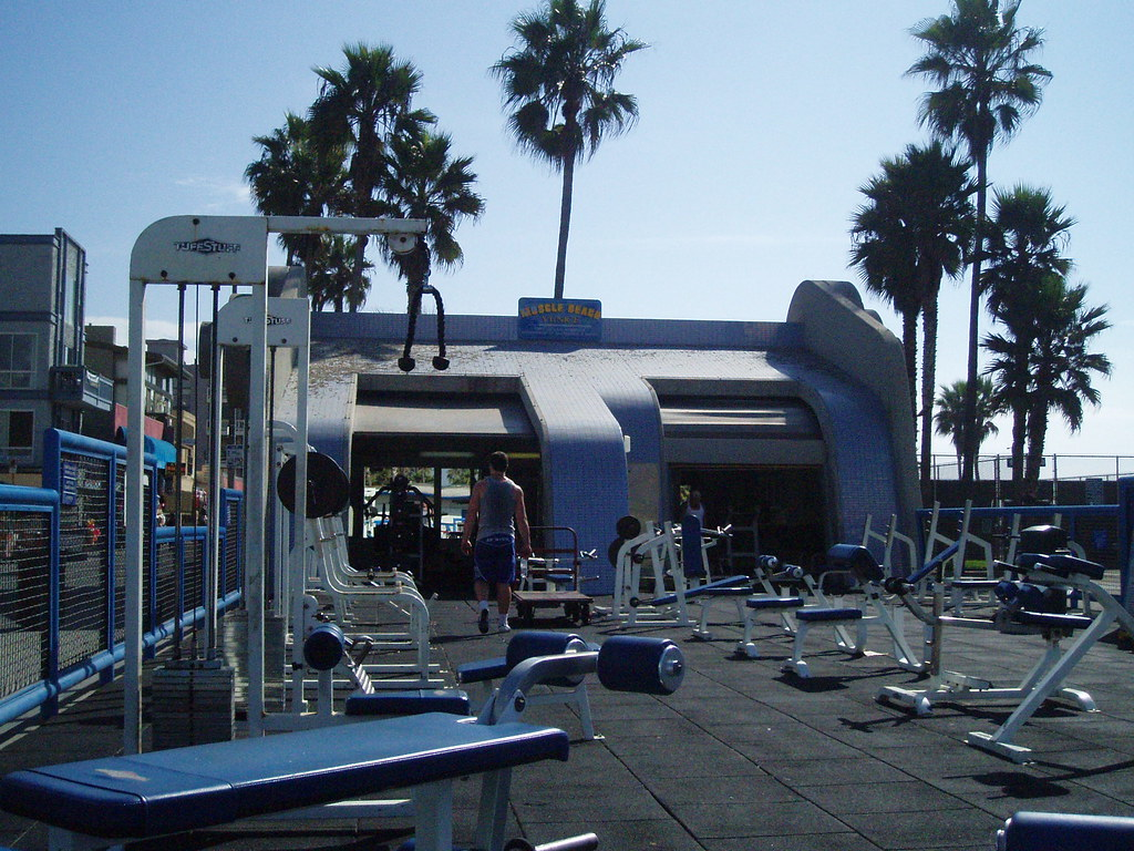 Santa Monica Venice Beach   Muscle Gym Kulli Bens World 1024x768