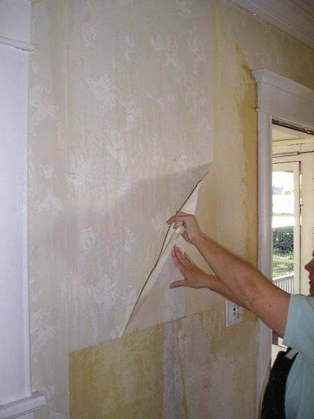 Removing heavy vinyl wallpaper 450x601