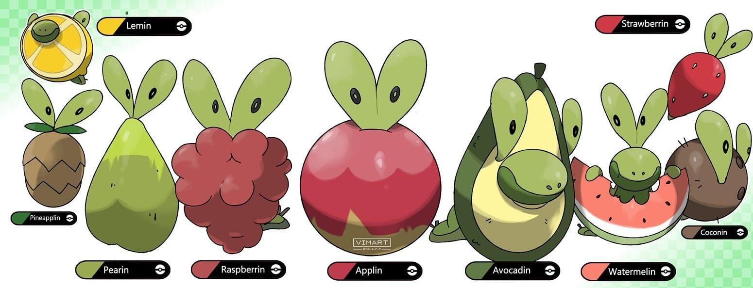 Pokmon Sword and Shield Applin fanart in 2020 Pokemon All 1550x594