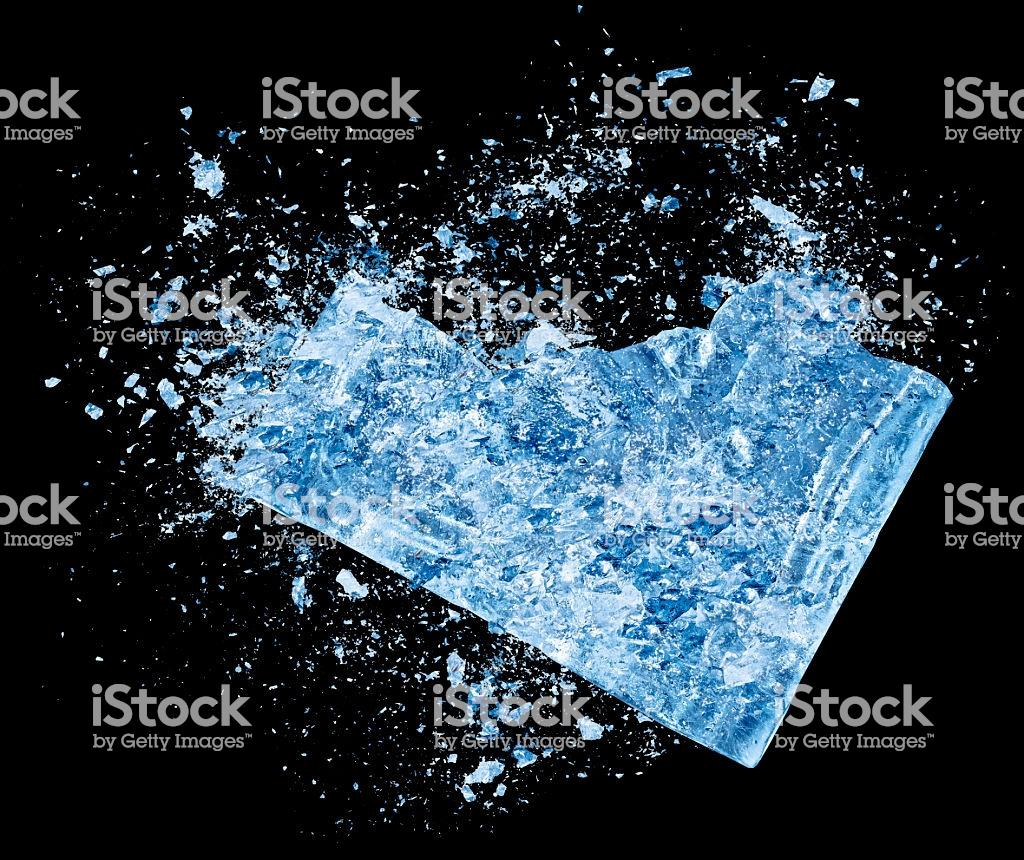 Ice Crash Explosion Parts On Black Background Stock Photo 1024x860