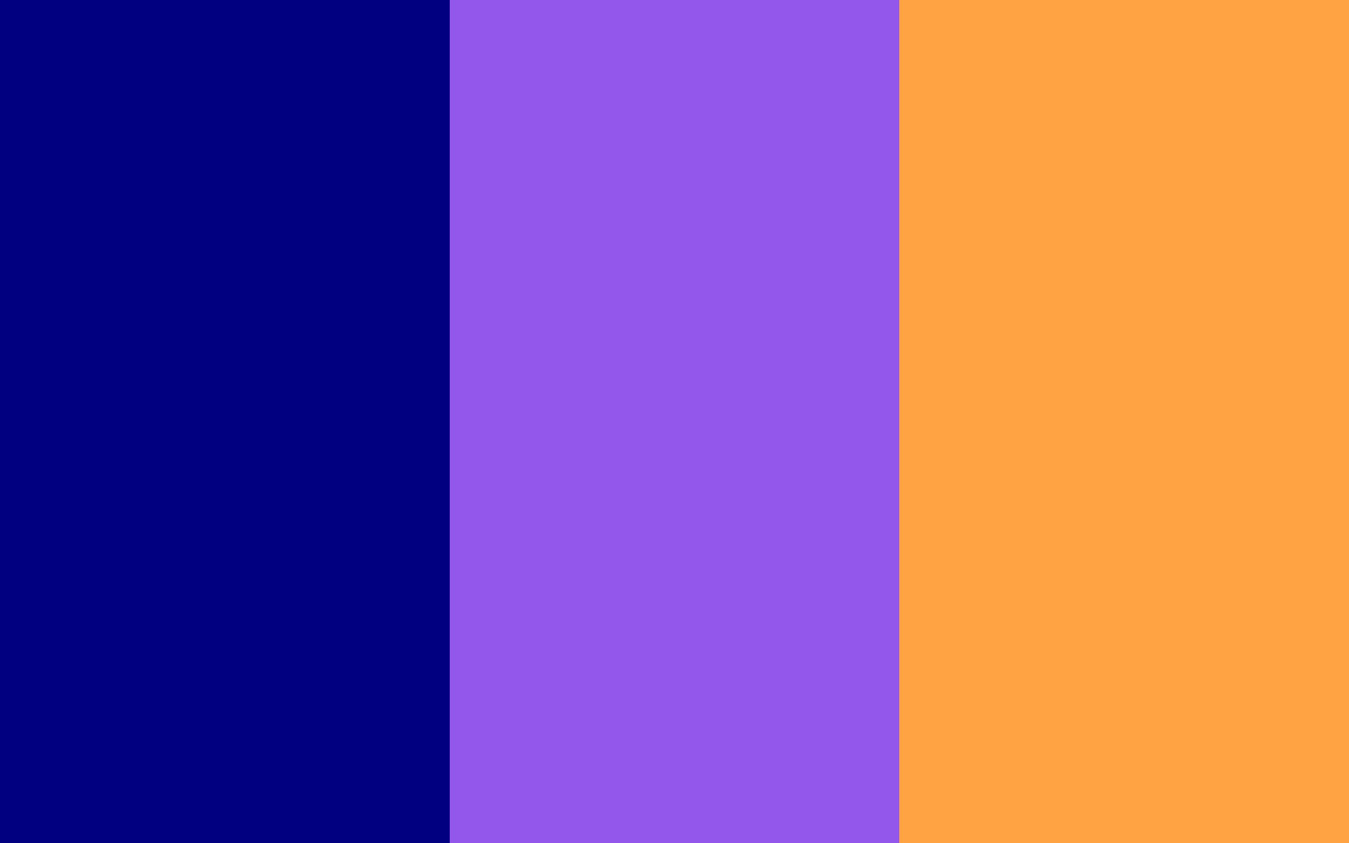 Navy Blue Navy Purple and Neon Carrot solid three color background 1920x1200