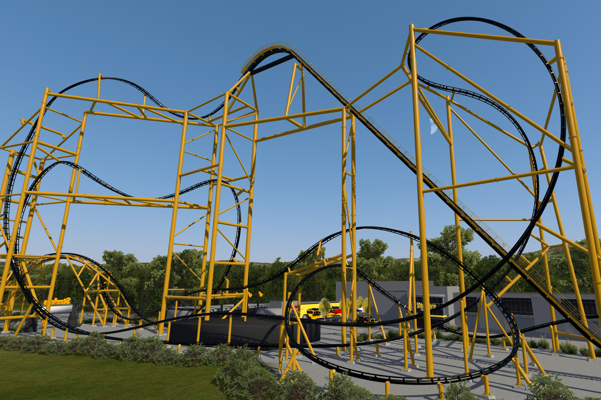 Steelers themed roller coaster close to completion at Kennywood 1200x800